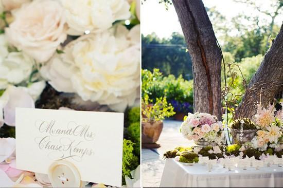 Décoration de mariage romantique jardin/ chic | À Voir
