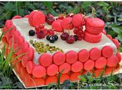 Gâteau fêtes entremet nougat-fruits rouges