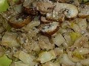 Risotto coquillettes céleri champignons