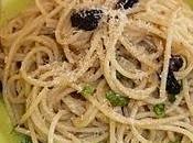 Spaghetti anchois, l'ail citron