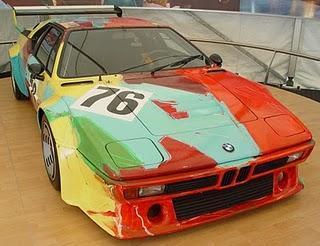 BMW M3 Gt2, une oeuvre d'art au départ des 24H du Mans.
