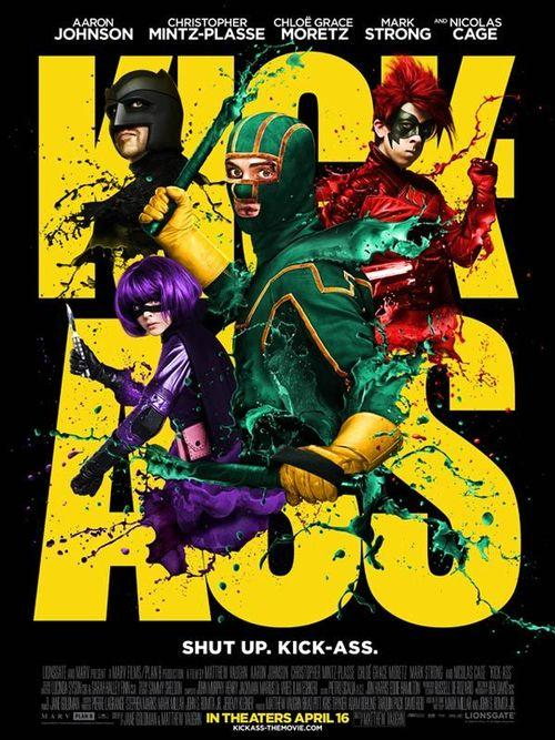 Kick-ass matthew vaughn nicolas cage aaron johnson chloe grace moretz mark strong