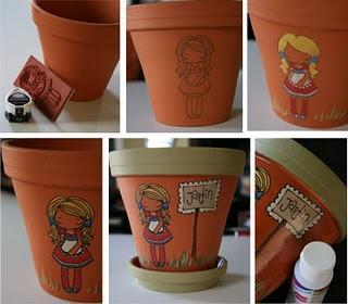 dco pot en terre cuite partie 2 - Decoration De Pot En Terre Cuite