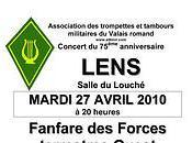 Trompettes tambours militaires Valais romand: concert Lens