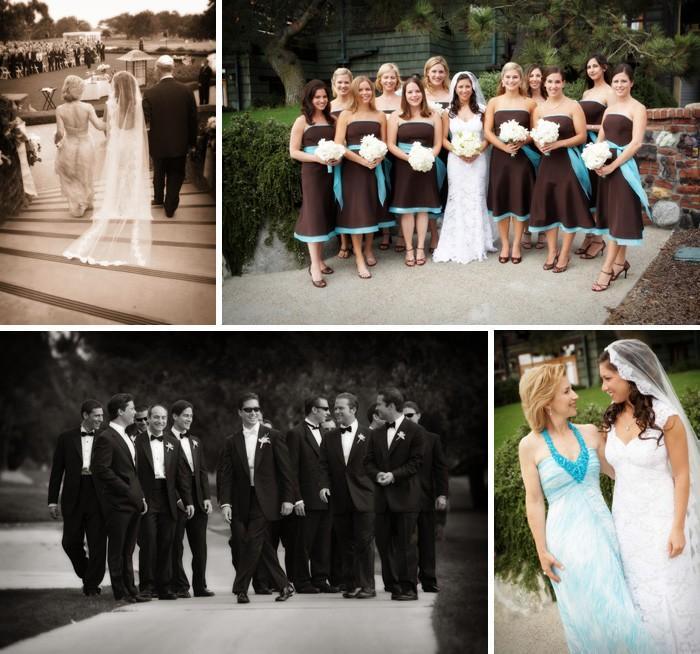 Vrai mariage: décoration de mariage bleu, blanche et ...