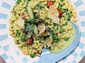 Salade coquillettes crème petits pois asperges