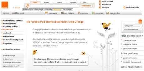 L'iPad arrive chez Orange..
