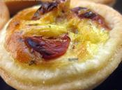Mini quiches pour l'apéro, lardons tomates confites