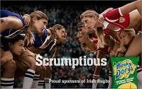 Publicité Hunky Dorys - Les filles se mettent au rugby