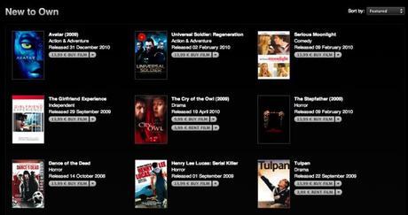 iTunes: La Location et l'Achat de films disponible