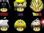 nombreux déguisements champignon Super Mario
