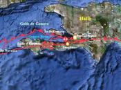 faille d'Enriquillo réactiverait-elle secousse magnitude quelques hectomètres Léogâne, dans Golfe Gonave.