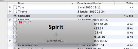 Tuto: Jailbreak Untethered avec Spirit (iPad 3.2, iPod/iPhone 3.1.x)