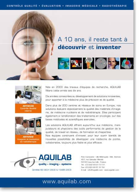 Aquilab / Communication institutionnelle presse / Création : Staminic
