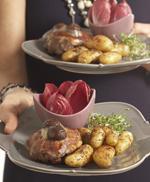 Galantine de dinde aux marrons et ses Ratte du Touquet aux quatre épices