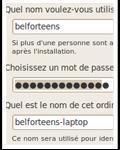 [La saisie des identifiants dans Ubuntu Lucid Lynx]