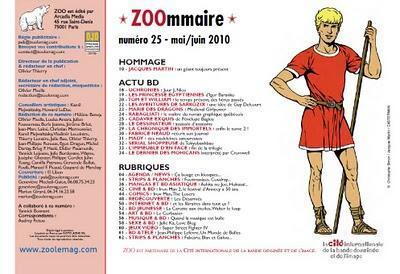 Presse BD  : nouvelle collaboration avec le magazine Zoo