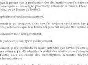 Incroyable lettre Zahia Raymond Domenech