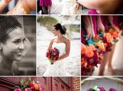 Vrai mariage turquoise fushia orange