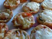 Minis pizzas ciabatta tomate pesto fromage
