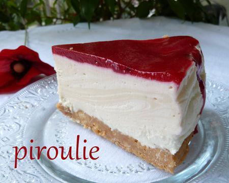 Cheesecake sans cuisson de Kapulski avec un coulis de ...