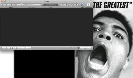 Interface iFlicks Mac Aficionados©