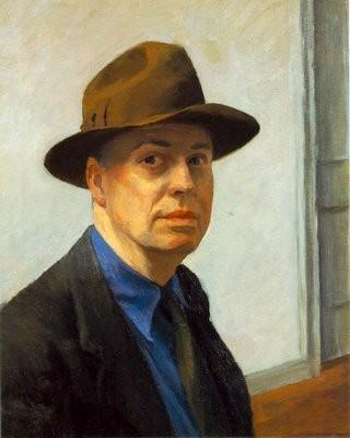 hopper self-portrait
