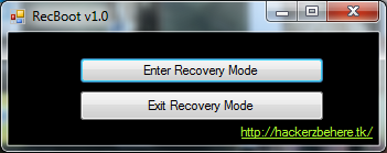 RecBoot : Le mode recovery en un clic !