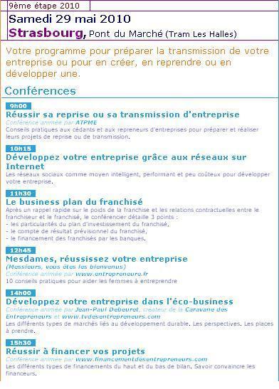 La Caravane des Entrepreneurs passe à Strasbourg le 29 mai