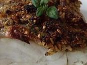 Lieu noir croute figue