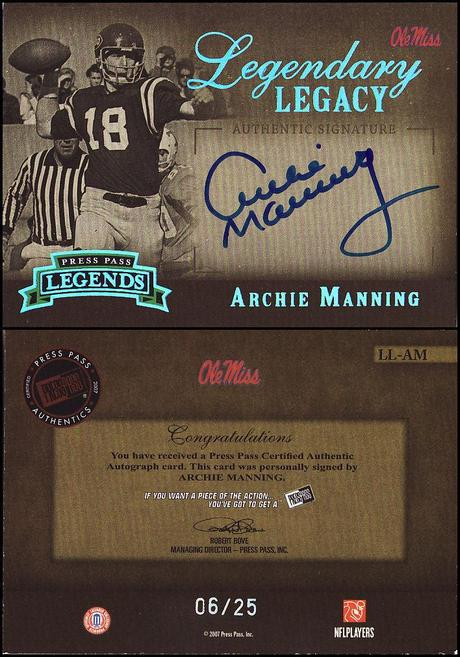 N.O Hall of Fame : Archie Manning (QB).