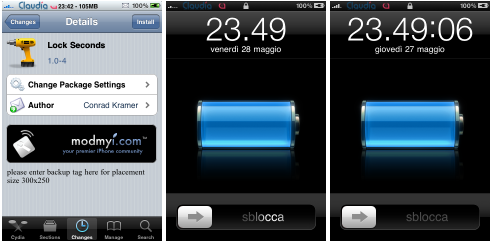 Lock Seconds : Les secondes sur le lockscreen