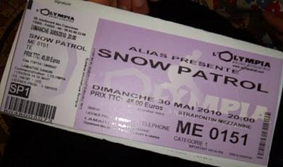 Snow Patrol à l'Olympia, le 30 mai 2010 : Fucking AWESOME!!! ♪  ♫