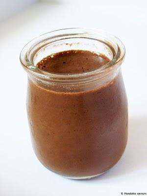 Flan simplissime au chocolat, à la vanille et agar-agar.P...