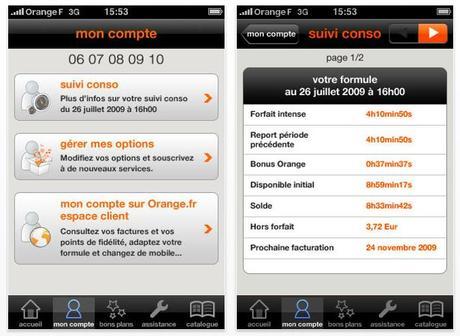 Orange et moi: Suivi conso pour iPhone...