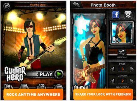 Guitar Hero iPhone entre sur l'App Store