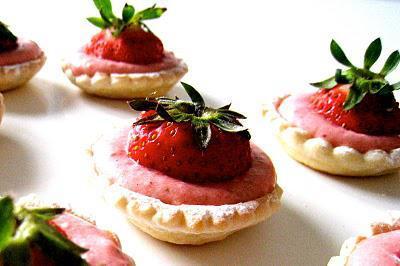 Tartelettes à la mousse de fraise