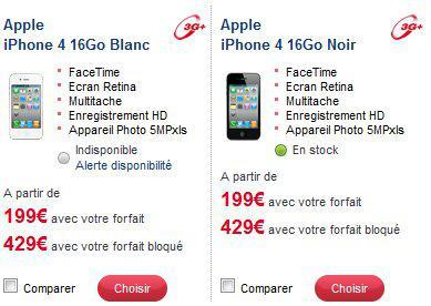 iPhone 4 : 199 euros chez SFR