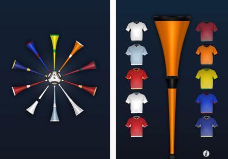 Application iPhone Coupe du Monde Vuvuzela 2010