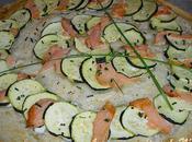 Tarte fine saumon courgettes