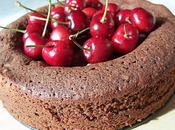 Gâteau fondant chocolat Valrhona cerises