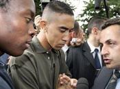 journaliste giflé service d'ordre Nicolas Sarkozy Courneuve