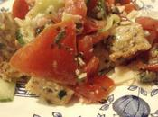 Salade panzanella (pain rassis tomates)