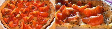 Tarte verte sans gluten tomates mozarella nigelle