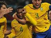 Huitièmes finale victoire Brésil buts contre Chili, Brésiliens qualifiés pour Mondial 2010
