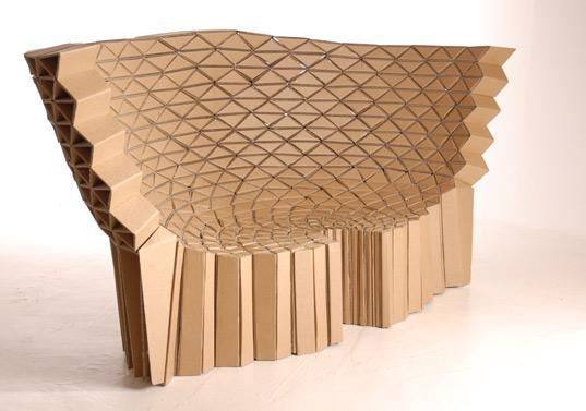 des meubles en carton recycl du studio lazerian