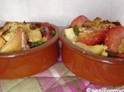 Ramequin fruite croustillant (fraises, nectarine pistaches)