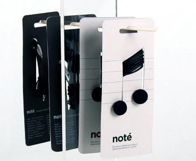 Packaging Design for earbuds : Noté by Corinne Pant