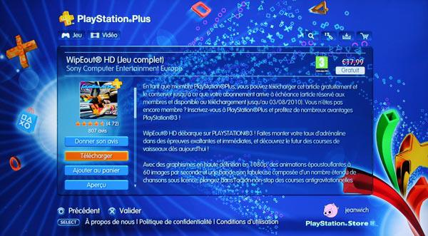 Playstation Plus - WipEout HD