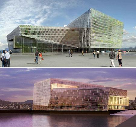 Harpa concert hall par Henning Larsen architects